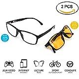 Computerbrille - Gaming Brillen - Brillen mit blaulichtfilter - Brillen blaulichtfilter - Gamer Brille - blueblocker Brille - Brillen für PC - Brillen Computer
