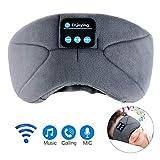 Bluetooth Schlafmaske, LC-dolida Schlaf Kopfhörer Musik Augenmaske Lichtblockierende Schlafbrille Schlafkopfhörer Headset mit Mikrofon-Freisprecheinrichtung für Reisen/Nickerchen/Schlafen/Yoga