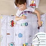 Anjee Gewichtsdecke für Kinder, 100% natürliche Baumwolle, Schwere Decke mit Glasperlen, 2,3kg 90x100cm, Tierparadies