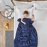 SCM Gewichtsdecke für Kinder Therapiedecke mit abnehmbaren Warm Fleece & Coolmax Bezüge Schwere Decke Weighted Blanket für Jugendliche 104 x 152 cm , 4.5 KG