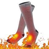 upstartech Elektrische Socken,lektrische Beheizte Warme Socken Thermal Warm Heated Socks Sneaker Socken Herren Damen schwarz Baumwolle Sportsocken für Fuß wärm eregelungIdeal Fußwärmer (Grau) (Grau)