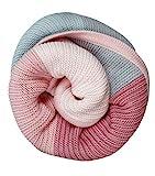 Neu im Angebot100% Baumwolldecke rosa/beige/blau kuschelige Baumwolldecke, Erstlingsdecke, Strickdecke- 100% Naturfaser- atmungsaktive Baumwolldecke