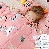Anjee Kinder-Gewichtsdecke, 100% natürliche Baumwolle, Schwere Decke für Kinder und Jugendliche, 2,3kg 90x120cm, Pinke Katze