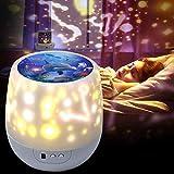 Sternenhimmel LED Projektor,Shayson Kinder Nachtlicht 360° Rotierend Projektionslampe Schlummerlicht Nachtlicht Schlafzimmer Lichter für Kinder Babys,Geschenke für Geburtstag Weihnachten