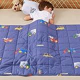 Anjee Kinder-Gewichtsdecke,natürliche Baumwolle, Schwere Decke für Kinder und Jugendliche, 2.3kg 90x120cm, Autowelt