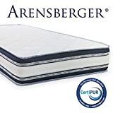 Arensberger ® Relaxx 7 Zonen Wellness Matratze mit 3D-Memory Foam, 90cm x 200cm, Höhe 27cm, Raumgewicht 50 kg/m³, DREI Schichten: Kaltschaum + Visco Smart Schaum + Gel Schaum