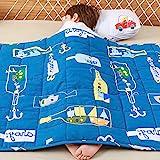 Anjee Kinder-Gewichtsdecke, 100% natürliche Baumwolle, Schwere Decke für Kinder, Sensorisch beruhigend für tollen Schlaf, 2,3kg 90x120cm, Ozean Traum