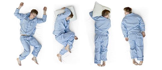 schlafposition rücken