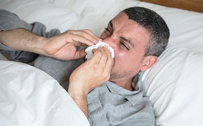 allergie schlafen